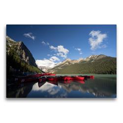 Premium Textil-Leinwand 75 x 50 cm Quer-Format Lake Louise / Alberta   Wandbild, HD-Bild auf Keilrahmen, Fertigbild auf hochwertigem Vlies, Leinwanddruck von Georg Beck