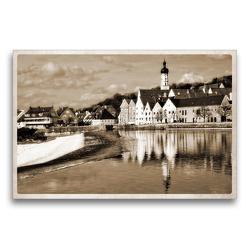Premium Textil-Leinwand 75 x 50 cm Quer-Format Landsberg am Lech Fotografien im Stil historischer Postkarten | Wandbild, HD-Bild auf Keilrahmen, Fertigbild auf hochwertigem Vlies, Leinwanddruck von Martina Marten