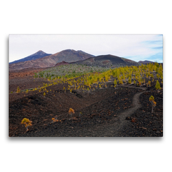 Premium Textil-Leinwand 75 x 50 cm Quer-Format Landschaft im Teide Nationalpark Teneriffa | Wandbild, HD-Bild auf Keilrahmen, Fertigbild auf hochwertigem Vlies, Leinwanddruck von Anja Frost