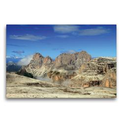 Premium Textil-Leinwand 75 x 50 cm Quer-Format Langkofel | Wandbild, HD-Bild auf Keilrahmen, Fertigbild auf hochwertigem Vlies, Leinwanddruck von Gerhard Albicker