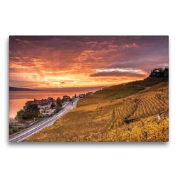 Premium Textil-Leinwand 75 x 50 cm Quer-Format Lavaux | Wandbild, HD-Bild auf Keilrahmen, Fertigbild auf hochwertigem Vlies, Leinwanddruck von Jackie Venzin