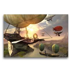 Premium Textil-Leinwand 75 x 50 cm Quer-Format Luftschiffe | Wandbild, HD-Bild auf Keilrahmen, Fertigbild auf hochwertigem Vlies, Leinwanddruck von Karsten Schröder