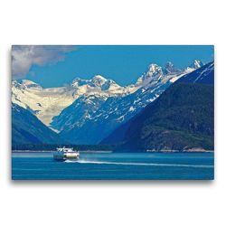 Premium Textil-Leinwand 75 x 50 cm Quer-Format M/V Fairweather auf dem Weg nach Juneau | Wandbild, HD-Bild auf Keilrahmen, Fertigbild auf hochwertigem Vlies, Leinwanddruck von Dieter-M. Wilczek
