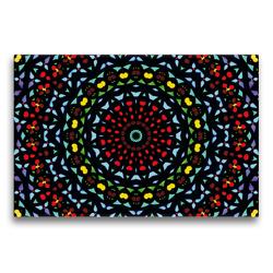 Premium Textil-Leinwand 75 x 50 cm Quer-Format Mandala 12 CB | Wandbild, HD-Bild auf Keilrahmen, Fertigbild auf hochwertigem Vlies, Leinwanddruck von Claudia Burlager