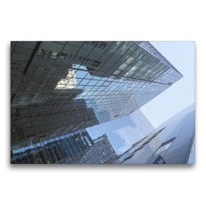 Premium Textil-Leinwand 75 x 50 cm Quer-Format Manhattan Skyscraper | Wandbild, HD-Bild auf Keilrahmen, Fertigbild auf hochwertigem Vlies, Leinwanddruck von Michael Ermel