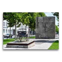 Premium Textil-Leinwand 75 x 50 cm Quer-Format Mannheim: Carl-Benz-Denkmal (Oststadt) | Wandbild, HD-Bild auf Keilrahmen, Fertigbild auf hochwertigem Vlies, Leinwanddruck von Thomas Seethaler
