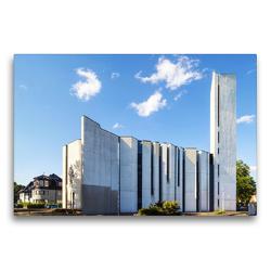 Premium Textil-Leinwand 75 x 50 cm Quer-Format Mannheim – Versöhnungskirche | Wandbild, HD-Bild auf Keilrahmen, Fertigbild auf hochwertigem Vlies, Leinwanddruck von Thomas Seethaler