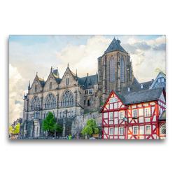 Premium Textil-Leinwand 75 x 50 cm Quer-Format Marburg Impressionen | Wandbild, HD-Bild auf Keilrahmen, Fertigbild auf hochwertigem Vlies, Leinwanddruck von Dirk Meutzner