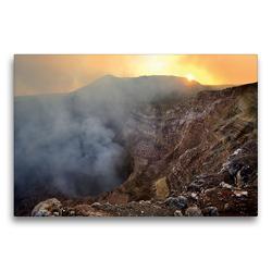 Premium Textil-Leinwand 75 x 50 cm Quer-Format Masaya Volcano National Park, Nicaragua   Wandbild, HD-Bild auf Keilrahmen, Fertigbild auf hochwertigem Vlies, Leinwanddruck von Christian Heeb