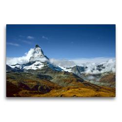 Premium Textil-Leinwand 75 x 50 cm Quer-Format Matterhorn | Wandbild, HD-Bild auf Keilrahmen, Fertigbild auf hochwertigem Vlies, Leinwanddruck von Astrid Ziemer