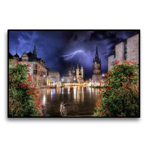 Premium Textil-Leinwand 120 x 80 cm Quer-Format Noriker | Wandbild, HD-Bild auf Keilrahmen, Fertigbild auf hochwertigem Vlies, Leinwanddruck von Sigrid Starick