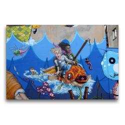 Premium Textil-Leinwand 75 x 50 cm Quer-Format Meresmotiv für Kids | Wandbild, HD-Bild auf Keilrahmen, Fertigbild auf hochwertigem Vlies, Leinwanddruck von SchnelleWelten