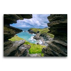 Premium Textil-Leinwand 75 x 50 cm Quer-Format Merlins Cave | Wandbild, HD-Bild auf Keilrahmen, Fertigbild auf hochwertigem Vlies, Leinwanddruck von Alfred Hadler