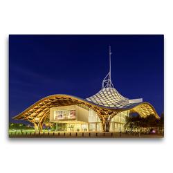 Premium Textil-Leinwand 75 x 50 cm Quer-Format Metz. Centre Pompidou.   Wandbild, HD-Bild auf Keilrahmen, Fertigbild auf hochwertigem Vlies, Leinwanddruck von N N