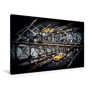 Premium Textil-Leinwand 75 x 50 cm Quer-Format Mirror Effect Polyscape | Wandbild, HD-Bild auf Keilrahmen, Fertigbild auf hochwertigem Vlies, Leinwanddruck von Oliver Pinkoss von Pinkoss,  Oliver