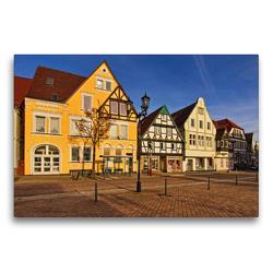 Premium Textil-Leinwand 75 x 50 cm Quer-Format Mittelstraße / Marktplatz | Wandbild, HD-Bild auf Keilrahmen, Fertigbild auf hochwertigem Vlies, Leinwanddruck von Detlef Thiemann / DT-Fotografie