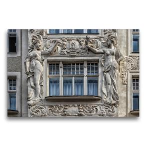 Premium Textil-Leinwand 75 x 50 cm Quer-Format Monumentale Fassadendekoration am Palais de Beaux Arts | Wandbild, HD-Bild auf Keilrahmen, Fertigbild auf hochwertigem Vlies, Leinwanddruck von Werner Braun