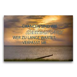Premium Textil-Leinwand 75 x 50 cm Quer-Format Motivation und Meer   Wandbild, HD-Bild auf Keilrahmen, Fertigbild auf hochwertigem Vlies, Leinwanddruck von Dirk Meutzner