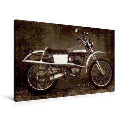 Premium Textil-Leinwand 75 x 50 cm Quer-Format Moto Morini 150 ccm | Wandbild, HD-Bild auf Keilrahmen, Fertigbild auf hochwertigem Vlies, Leinwanddruck von Gabi Siebenhühner von Siebenhühner,  Gabi