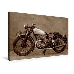 Premium Textil-Leinwand 75 x 50 cm Quer-Format Motorrad Oldtimer aus Österreich | Wandbild, HD-Bild auf Keilrahmen, Fertigbild auf hochwertigem Vlies, Leinwanddruck von Gabi Siebenhühner von Siebenhühner,  Gabi