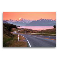 Premium Textil-Leinwand 75 x 50 cm Quer-Format Mount Cook   Wandbild, HD-Bild auf Keilrahmen, Fertigbild auf hochwertigem Vlies, Leinwanddruck von frasy Photography