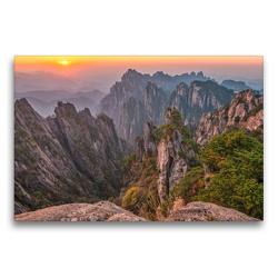 Premium Textil-Leinwand 75 x 50 cm Quer-Format Mount Huangshan, Yellow Mountain, Anhui Province   Wandbild, HD-Bild auf Keilrahmen, Fertigbild auf hochwertigem Vlies, Leinwanddruck von Christian Heeb