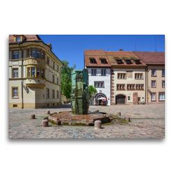 Premium Textil-Leinwand 75 x 50 cm Quer-Format Münsterbrunnen in Villingen   Wandbild, HD-Bild auf Keilrahmen, Fertigbild auf hochwertigem Vlies, Leinwanddruck von Stefanie und Philipp Kellmann