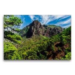 Premium Textil-Leinwand 75 x 50 cm Quer-Format Nationalpark Caldera de Taburiente | Wandbild, HD-Bild auf Keilrahmen, Fertigbild auf hochwertigem Vlies, Leinwanddruck von Michael Jaster