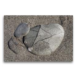 Premium Textil-Leinwand 75 x 50 cm Quer-Format Neuseelands Steine | Wandbild, HD-Bild auf Keilrahmen, Fertigbild auf hochwertigem Vlies, Leinwanddruck von Flori0