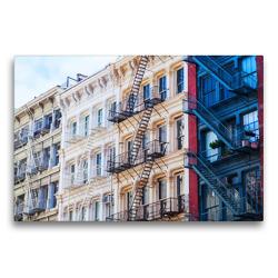 Premium Textil-Leinwand 75 x 50 cm Quer-Format Fassaden in Soho, New York City | Wandbild, HD-Bild auf Keilrahmen, Fertigbild auf hochwertigem Vlies, Leinwanddruck von Christian Müller