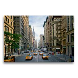 Premium Textil-Leinwand 75 x 50 cm Quer-Format NYC Fifth Avenue Verkehr | Wandbild, HD-Bild auf Keilrahmen, Fertigbild auf hochwertigem Vlies, Leinwanddruck von Melanie Viola