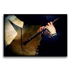 Premium Textil-Leinwand 75 x 50 cm Quer-Format Oboe | Wandbild, HD-Bild auf Keilrahmen, Fertigbild auf hochwertigem Vlies, Leinwanddruck von Martina Marten