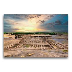 Premium Textil-Leinwand 75 x 50 cm Quer-Format Panoramblick über die Ausgrabungen von Persepolis | Wandbild, HD-Bild auf Keilrahmen, Fertigbild auf hochwertigem Vlies, Leinwanddruck von Guenter Guni