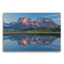 Premium Textil-Leinwand 75 x 50 cm Quer-Format Patagonien & Feuerland | Wandbild, HD-Bild auf Keilrahmen, Fertigbild auf hochwertigem Vlies, Leinwanddruck von Christian Heeb