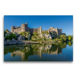Premium Textil-Leinwand 75 x 50 cm Quer-Format Pembroke Castle | Wandbild, HD-Bild auf Keilrahmen, Fertigbild auf hochwertigem Vlies, Leinwanddruck von Rene Schubert