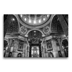 Premium Textil-Leinwand 75 x 50 cm Quer-Format Petersdom im Vatikan   Wandbild, HD-Bild auf Keilrahmen, Fertigbild auf hochwertigem Vlies, Leinwanddruck von Sergej Dimmel