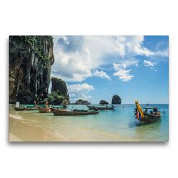 Premium Textil-Leinwand 75 x 50 cm Quer-Format Phra-Nang Beach   Wandbild, HD-Bild auf Keilrahmen, Fertigbild auf hochwertigem Vlies, Leinwanddruck von Christian Müringer