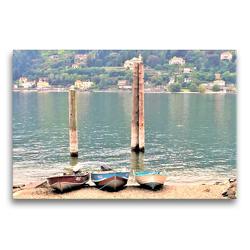 Premium Textil-Leinwand 75 x 50 cm Quer-Format Populäres Ausflugsziel am Lago Maggiore: Die Isola dei Pescatori. | Wandbild, HD-Bild auf Keilrahmen, Fertigbild auf hochwertigem Vlies, Leinwanddruck von Christine Konkel