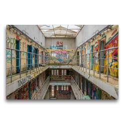 Premium Textil-Leinwand 75 x 50 cm Quer-Format Prison 15H | Wandbild, HD-Bild auf Keilrahmen, Fertigbild auf hochwertigem Vlies, Leinwanddruck von Industrieller