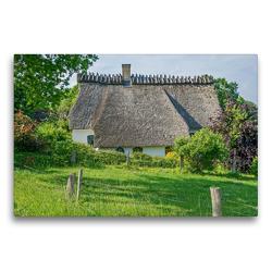 Premium Textil-Leinwand 75 x 50 cm Quer-Format Reetdachkate | Wandbild, HD-Bild auf Keilrahmen, Fertigbild auf hochwertigem Vlies, Leinwanddruck von Stephan Käufer