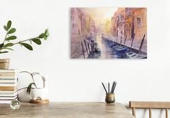 Premium Textil-Leinwand 750 x 500 cm Quer-Format REISEERLEBNISSE in AQUARELL – ECKARD FUNCK   Wandbild, HD-Bild auf Keilrahmen, Fertigbild auf hochwertigem Vlies, Leinwanddruck von ECKARD FUNCK
