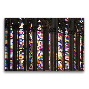 Premium Textil-Leinwand 75 x 50 cm Quer-Format Richter-Fenster im Kölner Dom   Wandbild, HD-Bild auf Keilrahmen, Fertigbild auf hochwertigem Vlies, Leinwanddruck von Elisabeth Schittenhelm