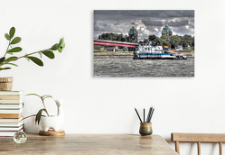 Premium Textil-Leinwand 75 x 50 cm Quer-Format RKM 780,5 Homberg – Ruhrort | Wandbild, HD-Bild auf Keilrahmen, Fertigbild auf hochwertigem Vlies, Leinwanddruck von Joachim Petsch