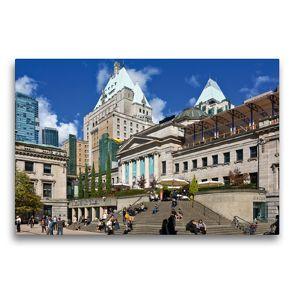 Premium Textil-Leinwand 75 x 50 cm Quer-Format Robson Square   Wandbild, HD-Bild auf Keilrahmen, Fertigbild auf hochwertigem Vlies, Leinwanddruck von Andreas Schön