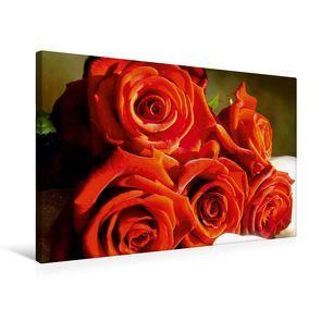 Premium Textil-Leinwand 75 x 50 cm Quer-Format Rosenstrauß | Wandbild, HD-Bild auf Keilrahmen, Fertigbild auf hochwertigem Vlies, Leinwanddruck von Heike Hultsch