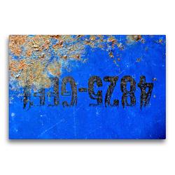 Premium Textil-Leinwand 75 x 50 cm Quer-Format Rostiges Ölfass | Wandbild, HD-Bild auf Keilrahmen, Fertigbild auf hochwertigem Vlies, Leinwanddruck von Anne Madalinski