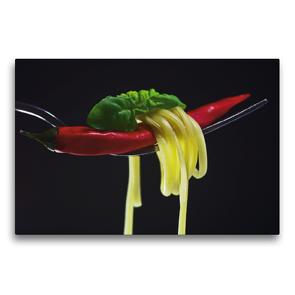 Premium Textil-Leinwand 75 x 50 cm Quer-Format Rote Chili | Wandbild, HD-Bild auf Keilrahmen, Fertigbild auf hochwertigem Vlies, Leinwanddruck von Tanja Riedel
