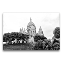 Premium Textil-Leinwand 75 x 50 cm Quer-Format Sacre Coeur in Paris | Wandbild, HD-Bild auf Keilrahmen, Fertigbild auf hochwertigem Vlies, Leinwanddruck von kattobello