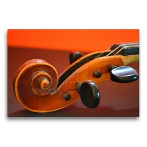 Premium Textil-Leinwand 75 x 50 cm Quer-Format Schnecke einer Geige | Wandbild, HD-Bild auf Keilrahmen, Fertigbild auf hochwertigem Vlies, Leinwanddruck von Renate Bleicher