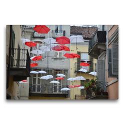 Premium Textil-Leinwand 75 x 50 cm Quer-Format schwebende Schirme | Wandbild, HD-Bild auf Keilrahmen, Fertigbild auf hochwertigem Vlies, Leinwanddruck von Florian Fritz